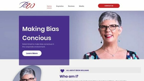 prowebsitecreators Bron Williams website portfolio