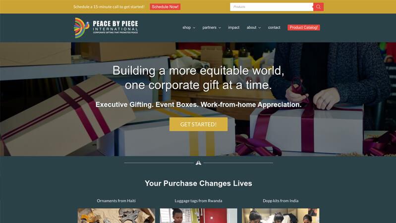 Peace By Piece International Pro Website Creators portfolio